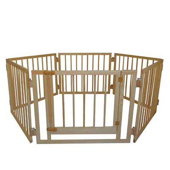 Манеж детский деревянный  72 см, 6 секций